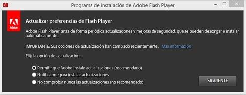 actualizar flash player