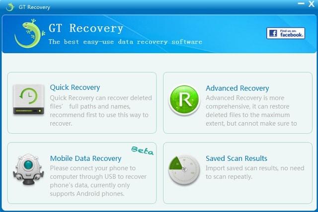 Descargar GT Recovery para recuperar archivos borrados