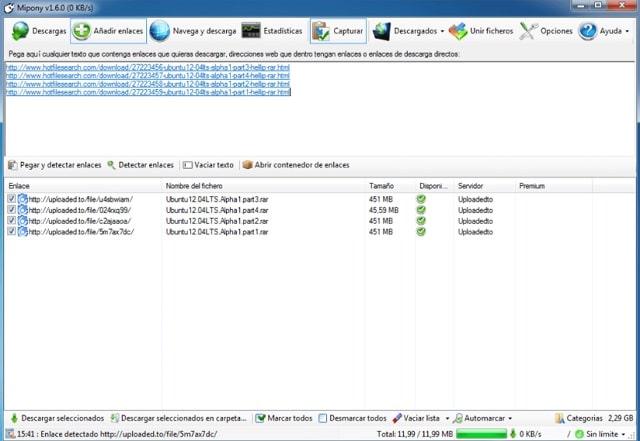 Descargar Mipony para gestionar descargas