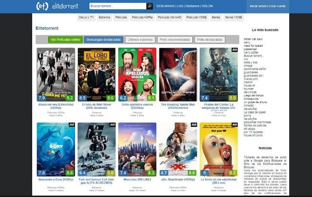 Alternativas a EliteTorrent, las mejores y actualizadas