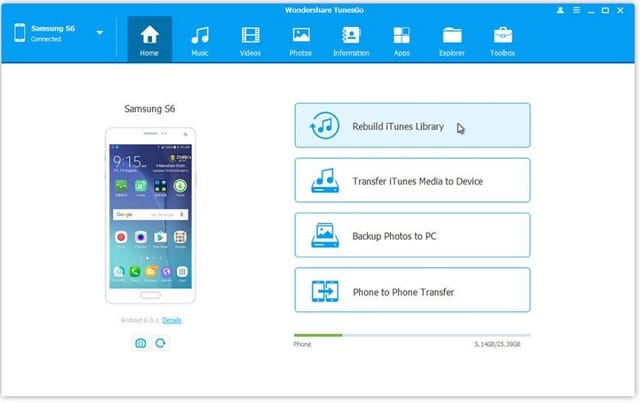 android transfer for windows