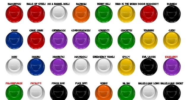 botones con sonidos