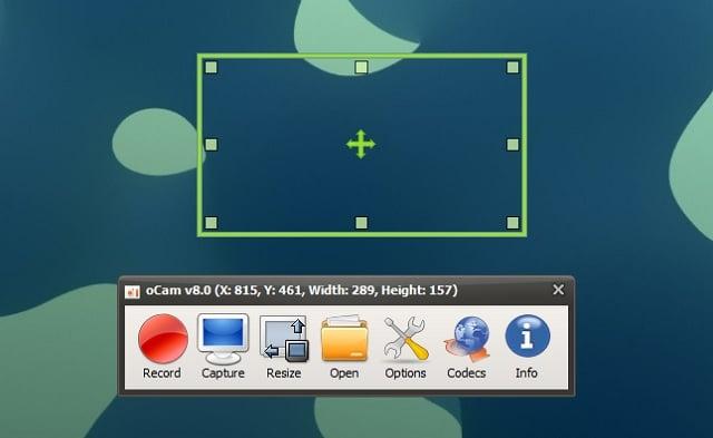 Descargar oCam para grabar la pantalla del ordenador