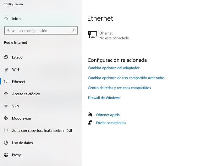 conexion ethernet