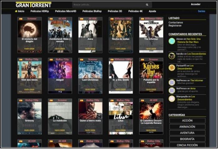 GranTorrent para descargar archivos y Alternativas que funcionan