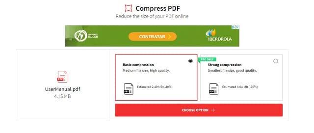 reducir pdf