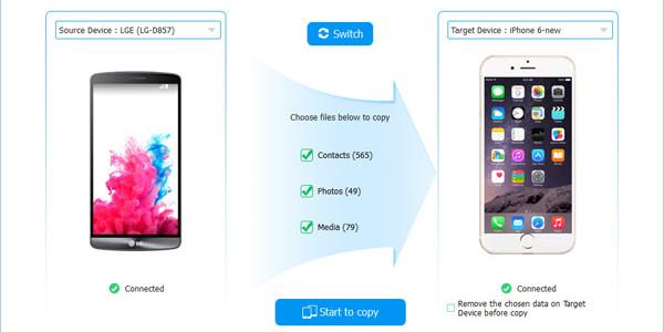 Los mejores programas para transferir datos entre iPhone y Android